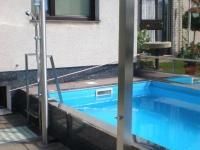 nerezové sprchy, hranaté, kulaté , oplechování bazenu nerezem