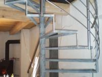 ocelové točité schodiště, nerez zábradlí