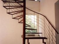 ocelové schodiště, zábradlí nerez