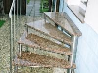 nerezové točité schody
