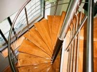 nerezové točité schody, zábradlí - nohy o30,  výplň o10, madlo o40